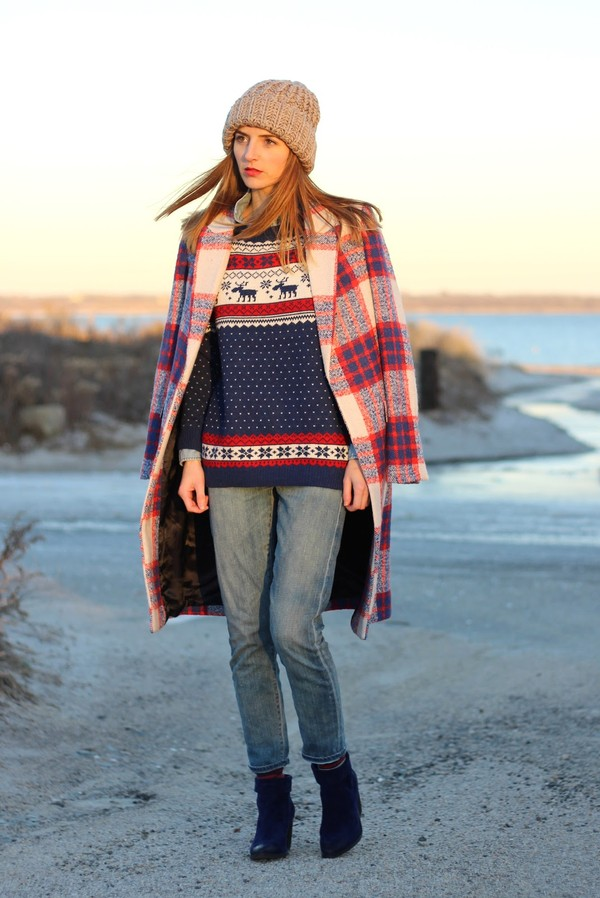 jess style rules sweater hat jeans shoes