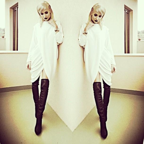 white dress winter outfits draped sweater dress winter dress blouse