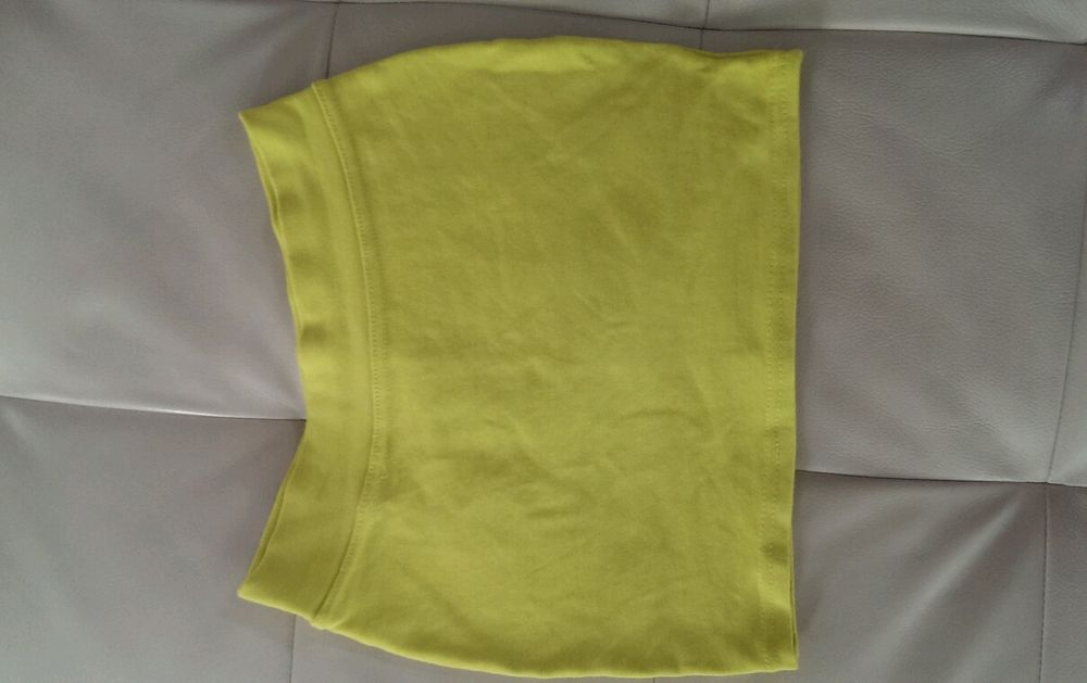 Brand New Neon Yellow Fitted Skirt | eBay