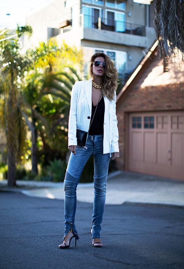 sunglasses t-shirt jacket bag shoes