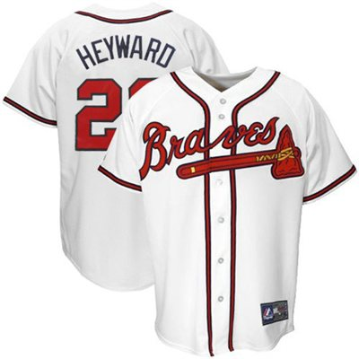 CFS - Majestic Atlanta Braves Jason Heyward #22 Youth Replica Jersey - White