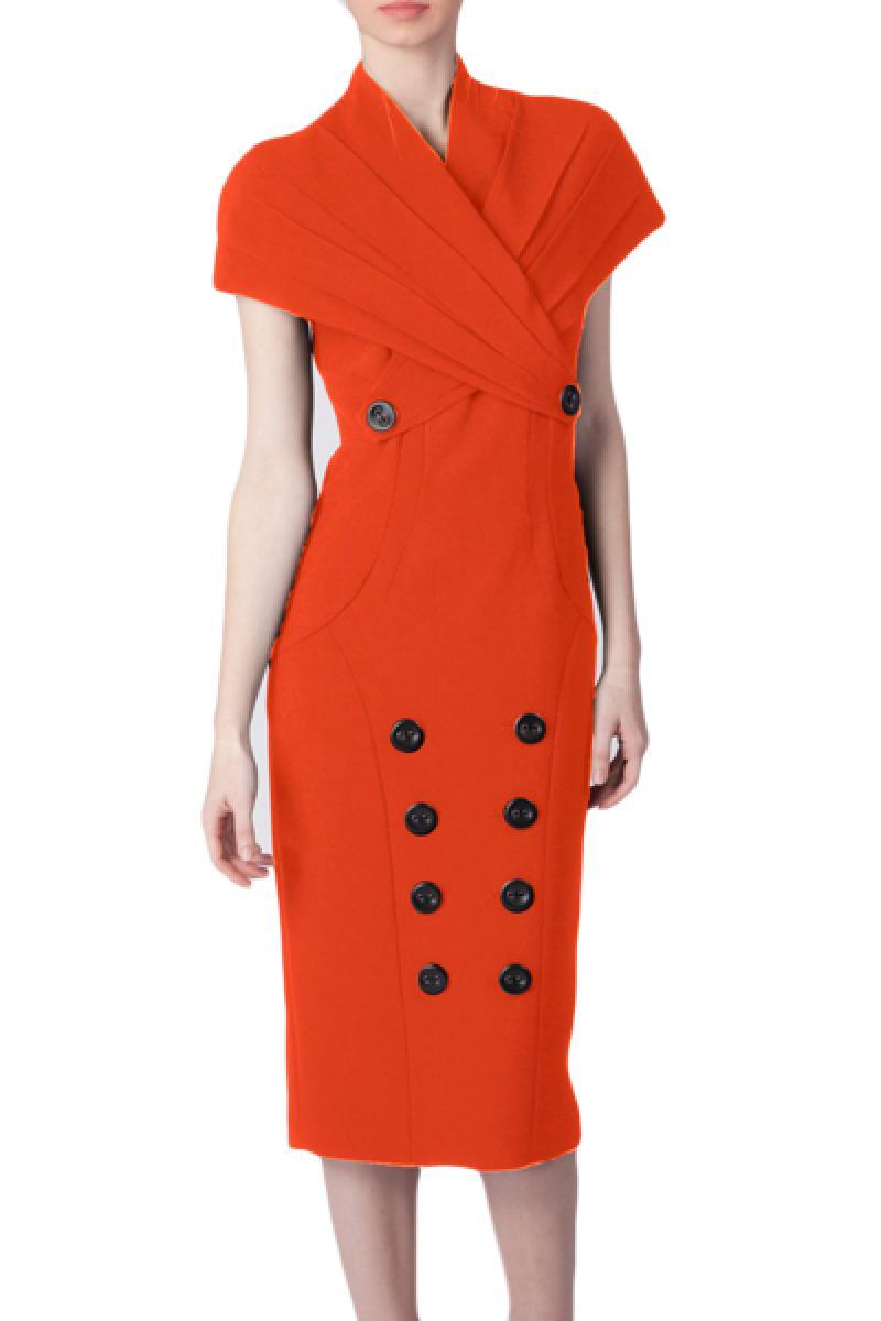 New Temperament Stand Collar Short Sleeve Dress,Cheap in Wendybox.com