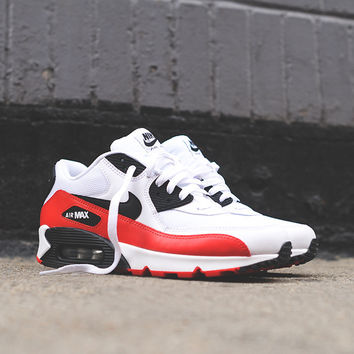 Nike Air Max 90 Essential - White / Red / Black | Sneaker | Kith NYC on Wanelo