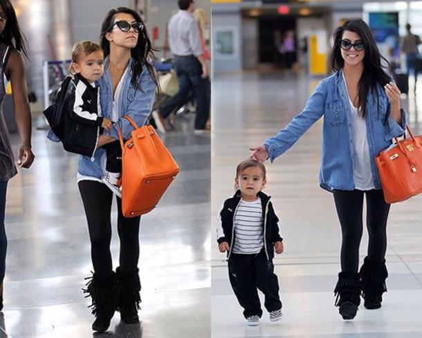 kardashians denim shirt kids fashion stripes jacket love