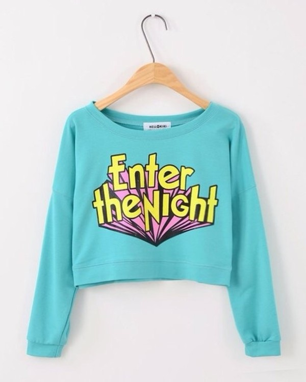 sweater colorful celebrity brand t-shirt blue pink pullover sweatshirt t-shirt jeans yellow white black dream njce dress bag ebay fashion glasses sh