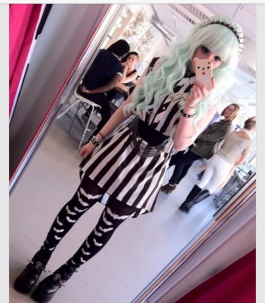 hair accessory goth pastel goth dress shoes belt jewels