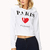 Paris Please Cropped Hoodie | FOREVER21 - 2000064526