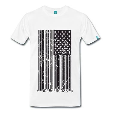 Barcode Flag T-Shirt | Spreadshirt | ID: 10408125