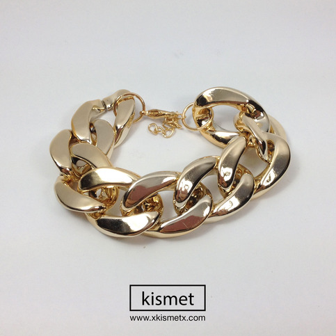 Thick Gold Chain Bracelet · kismet · Online Store Powered by Storenvy