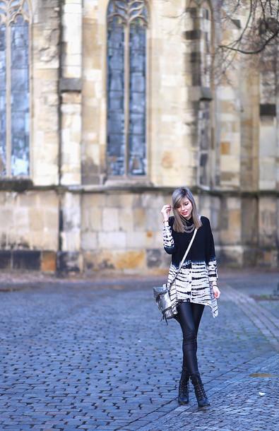bekleidet blogger shirt leggings bag ombre black and white