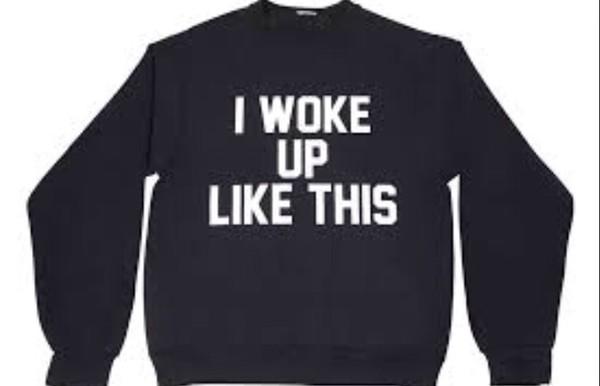 i woke up like this black beyoncé shirt