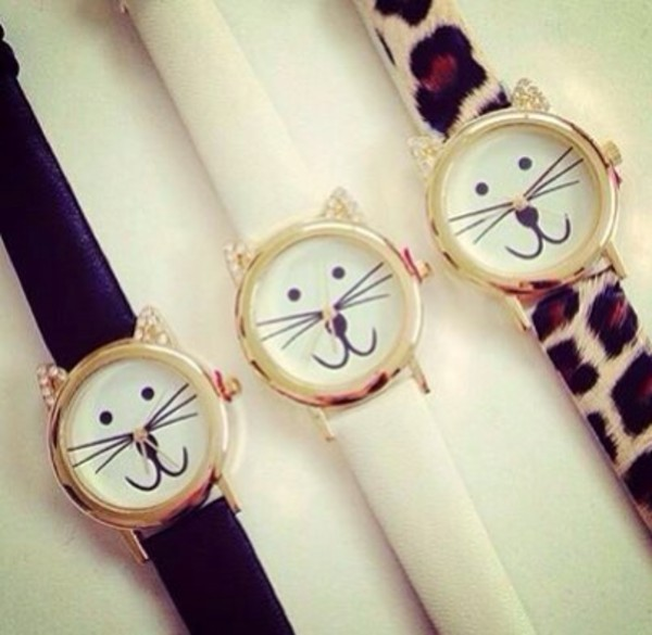 jewels cat watch watch