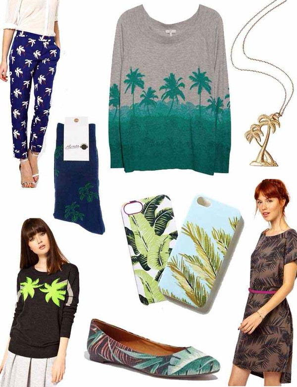 t-shirt palm tree necklace phone cover socks pants sweater flats shoes dress jewels phone cover