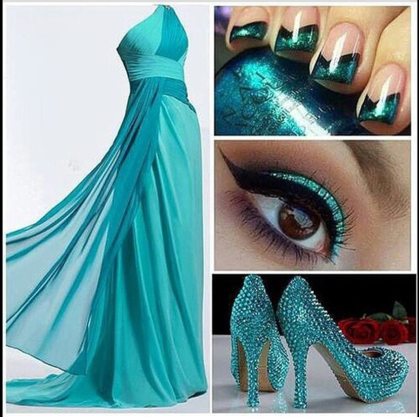 dress blue dress green dress