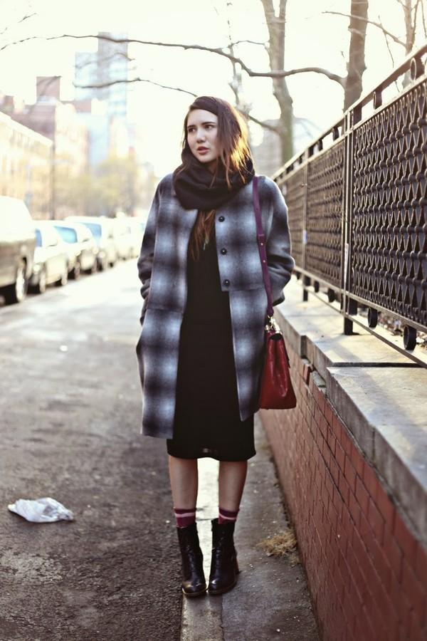 color me nana dress coat scarf bag shoes