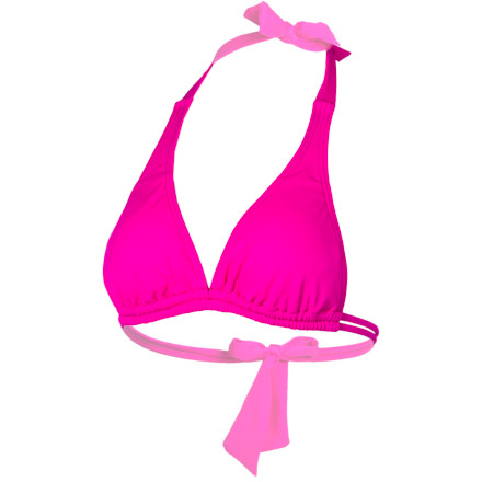 Hurley One & Only Solids Halter Bikini Top - Women's | Dogfunk.com