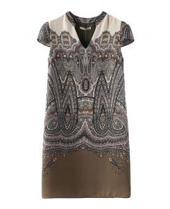 Printed & Dyed Off-the-shoulder Dress | BlackFive