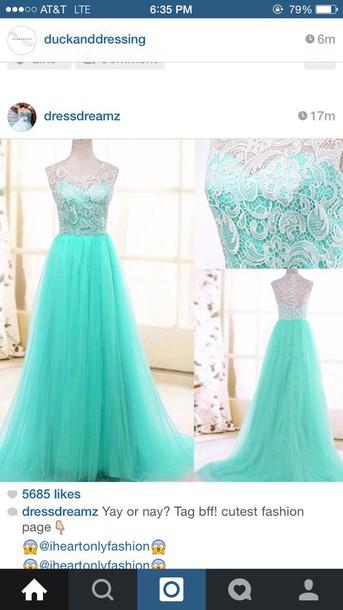 dress prom dress turquoise dress