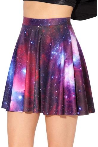 skirt purple galaxy skater skirt
