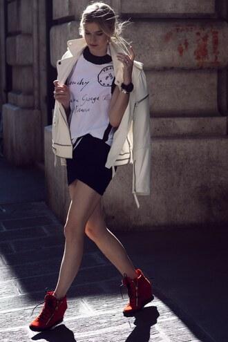 zanita jacket t-shirt skirt shoes jewels