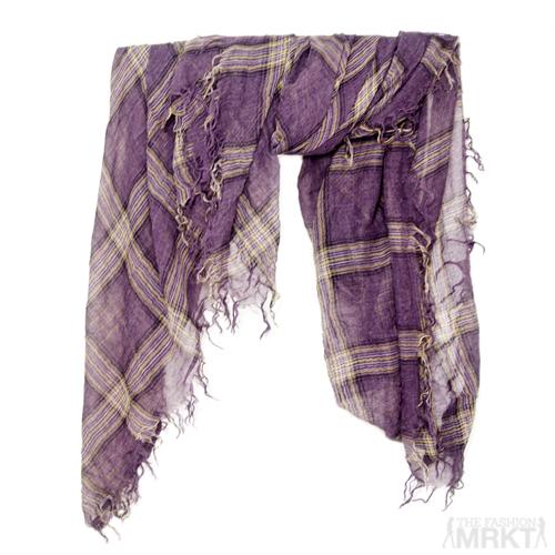 Tilo Purple Plaid Gauze Scarf / TheFashionMRKT