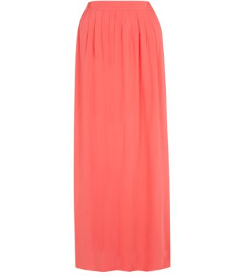 Coral Voile Maxi Skirt