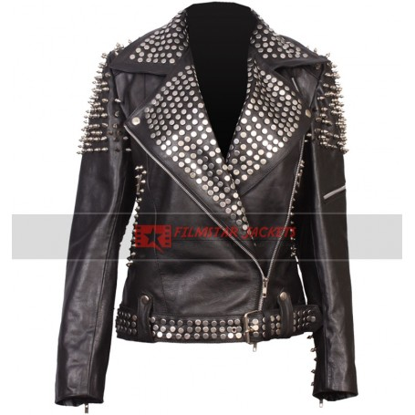 Britney Spears Till The World Ends Studded Spiked Jacket