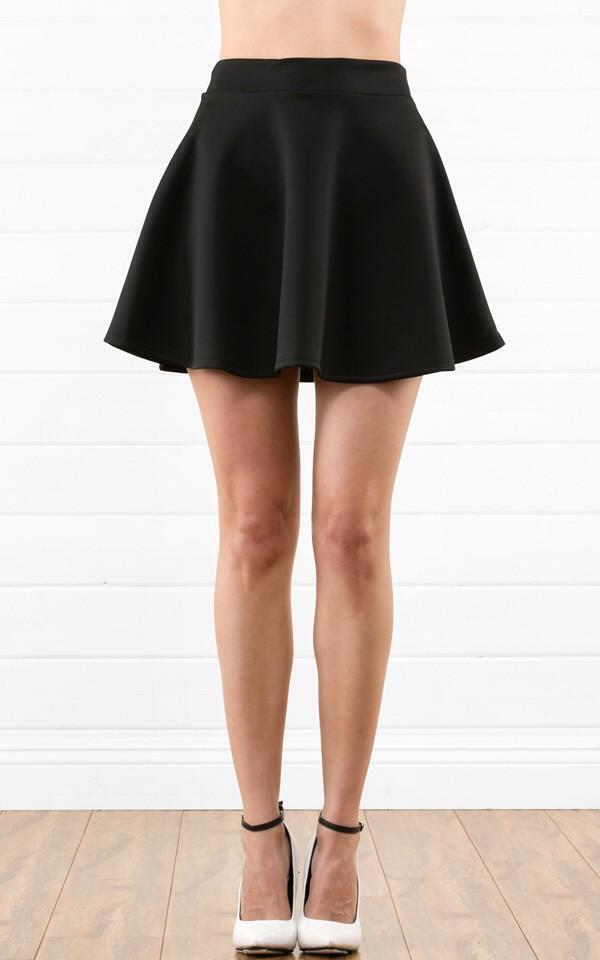 skirt skater skirt black