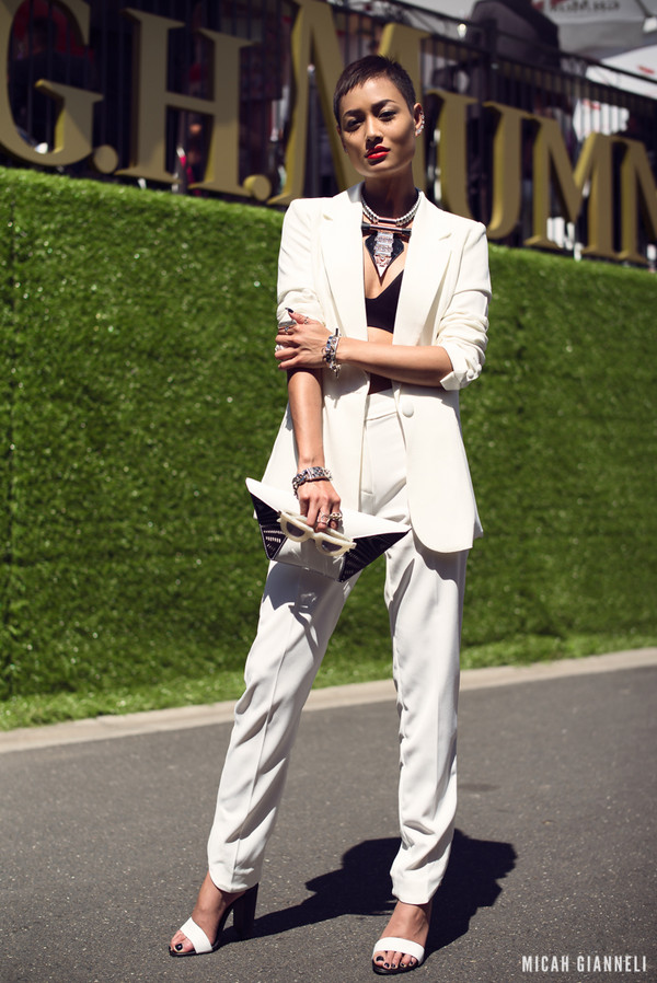 micah gianneli jewels jacket pants bag sunglasses shoes