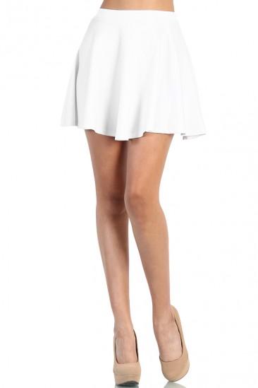 LoveMelrose.com From Harry & Molly   Skater Skirt - White