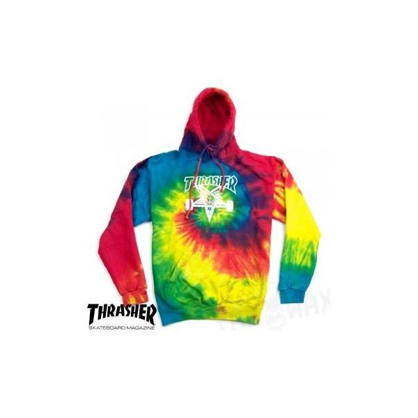 Thrasher Magazine Mens Skate Goat Tie Dye Hoodie - Polyvore