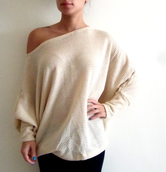 Oversize sweater/ Knitted shirt/ Plus size shirt/ von onor auf Etsy