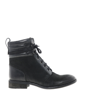 Bertie | Bertie Pontos Worker Lace Up Ankle Boots at ASOS