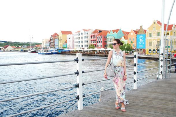 shiny sil blogger dress bag jewels sunglasses
