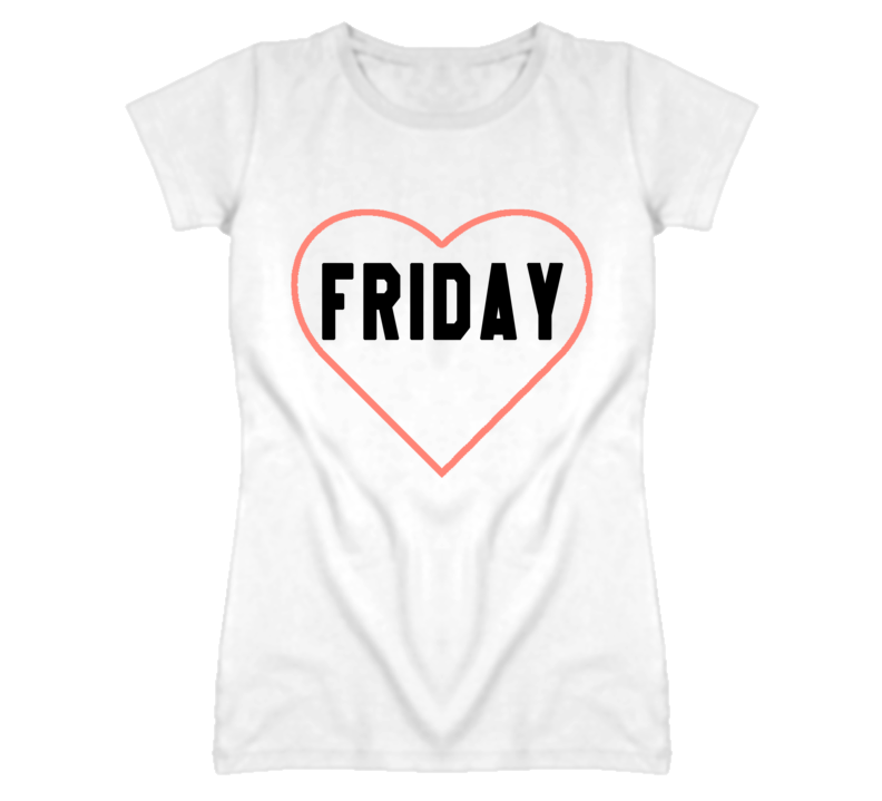 Friday With Heart Popular Graphic T Shirt