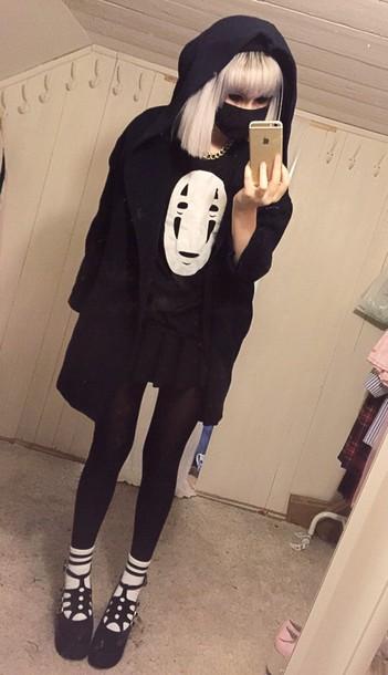 t-shirt sweater pastel goth kawaii clothes black sweater