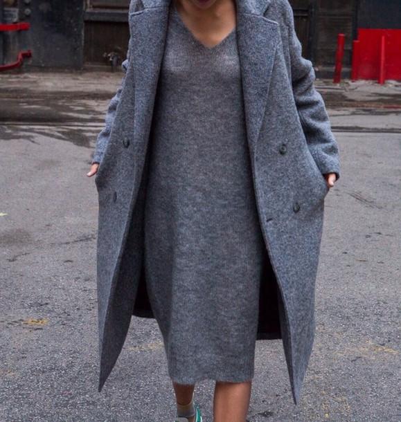dress grey coat autum style