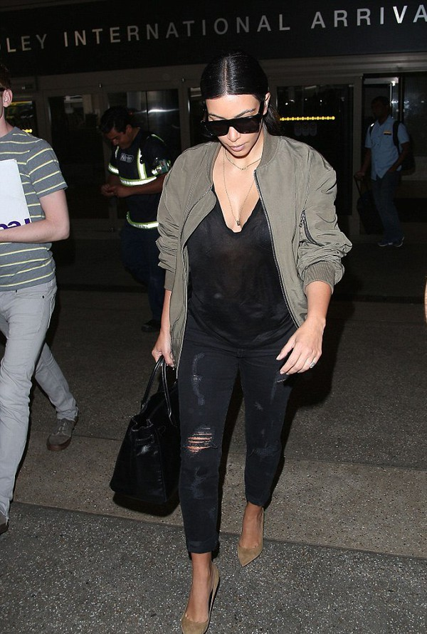 jeans kim kardashian shoes jacket bag black jeans bomber jacket