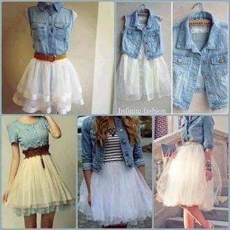 skirt tulle skirt white blouse