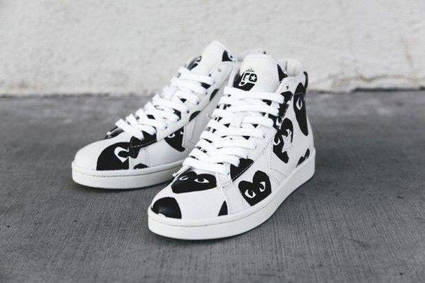 shoes comme des garcons white sneakers