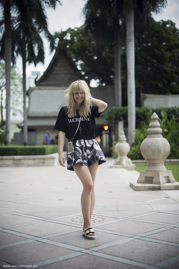just another me t-shirt jewels shorts