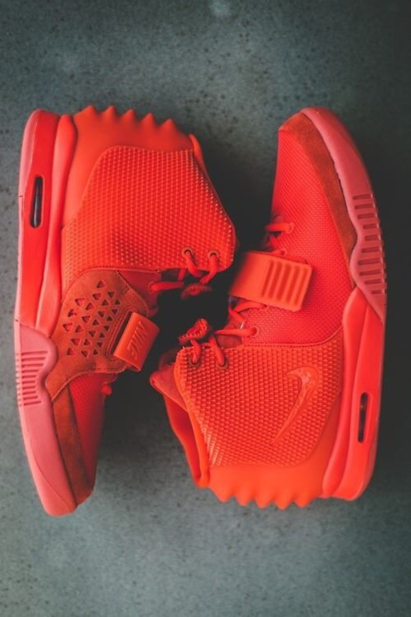 shoes red nike yeezy