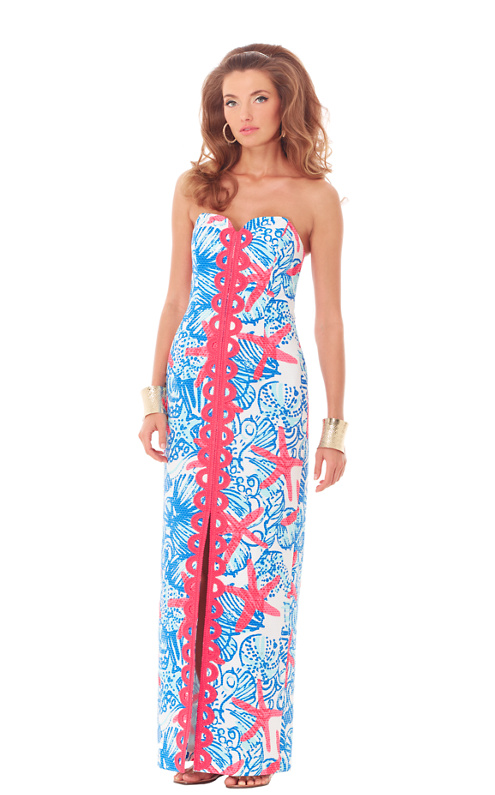 Angela Strapless Sweetheart Maxi Dress - Lilly Pulitzer