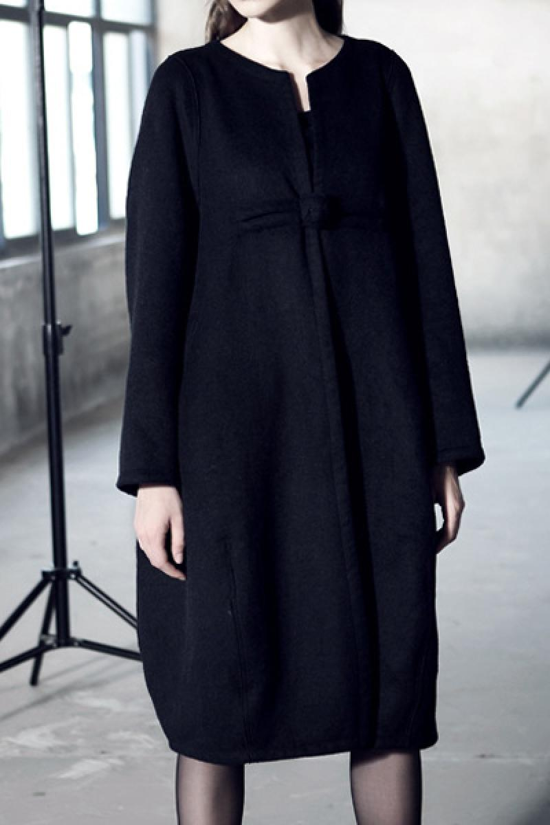 Leisure One-button National Characteristic Big Size Woolen Overcoat,Cheap in Wendybox.com
