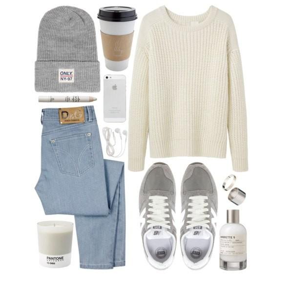 sweater jeans trainers jumper knitwear hat shoes