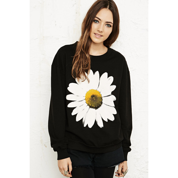 Truly Madly Deeply Daisy Splice Sweatshirt - Polyvore