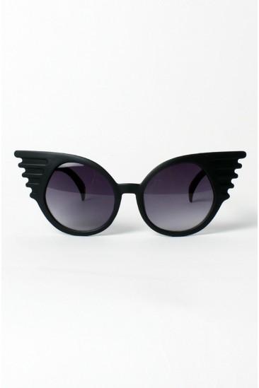 LoveMelrose.com From Harry & Molly | Winged Cat-Eye Sunglasses