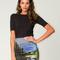 Motel becka bodycon skirt in mountain print