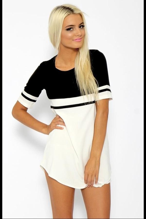 dress black and white summer dress
