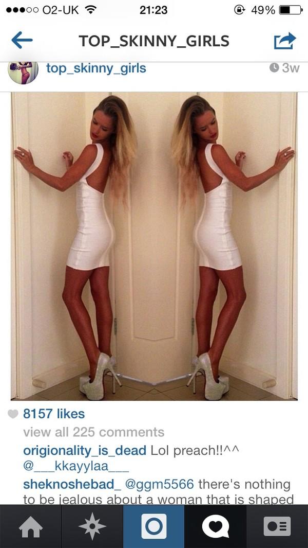 dress white bandage dress white dress